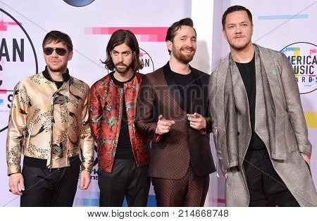 LOS ANGELES - NOV 19:  Imagine Dragons arrives for the 2017 American Music Awards on November 19, 2017 in Los Angeles, CA
