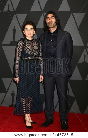 LOS ANGELES - NOV 11:  Monique Akin, Fatih Akin at the AMPAS 9th Annual Governors Awards at Dolby Ballroom on November 11, 2017 in Los Angeles, CA