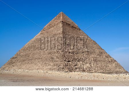 Great Pyramid of Giza, also known as the Pyramid of Khufu or the Pyramid of Cheops - Cairo, Egypt
