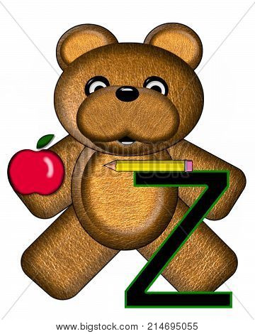Bear Alphabet Lesson Z