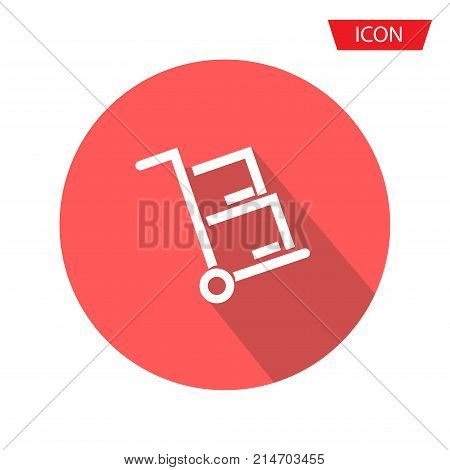 handcart icon symbols vector isolated on background.