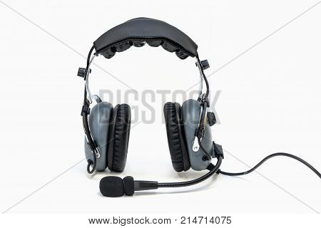 Pilot headphones. Headphones for pilots. Aviation headphones for pilots.