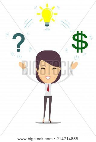 Brainstorm concept - Idea can make lots of money. Stock vector illustration for poster, greeting card, website, ad, business presentation, advertisement design.