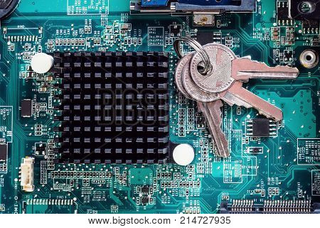 Lock Of Computer Chip Analysis Repair Of Pc Laptop