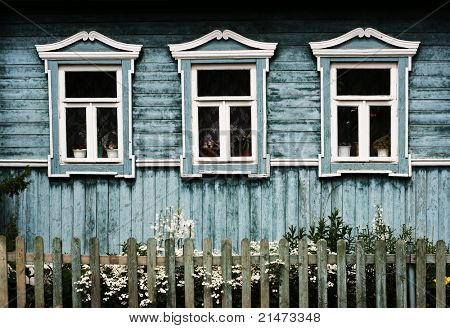 Decorative windows in Suzdal (Russia)