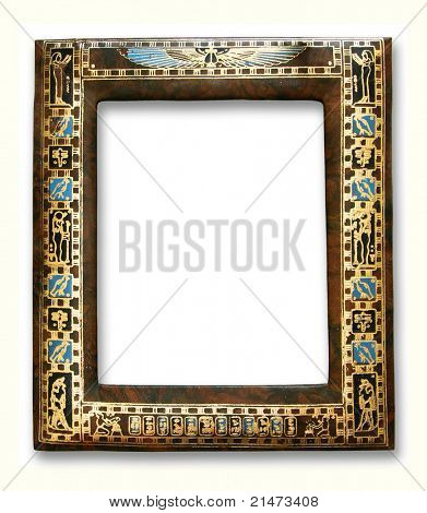 Egyptian frame isolated on white