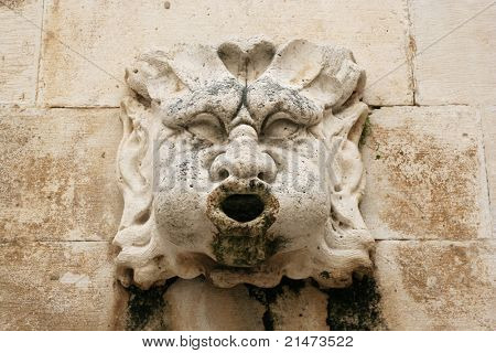 Detail of old fountain in Dubrovnik (Croatia)