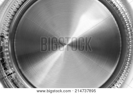 Electric Glass Kettle Isolated On White Background. Glass And Stainless Steel Tea Kettle. Domestic A