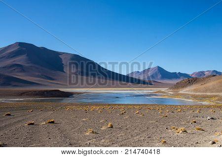 Laguna Verde Is A Salt Lake At The Foot Of The Volcanos Licancabur And Juriques - Eduardo Avaroa And