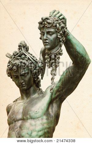 Perseus with the head of Medusa, by Benvenuto Cellini, in Loggia de' Lanzi, Piazza della Signoria, Florence