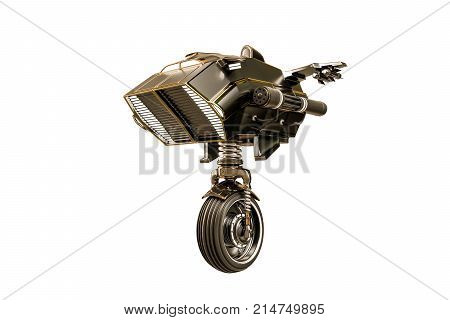 3d illustration of a robot sentinel isolated on white background