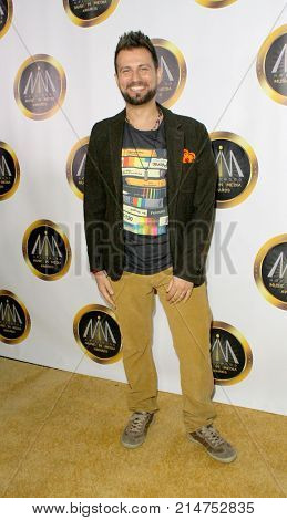 Glen Gabriel arrives at The Hollywood Music in Media Awards at the Avalon Hollywood in Los Angeles, CA on Nov. 16, 2017.