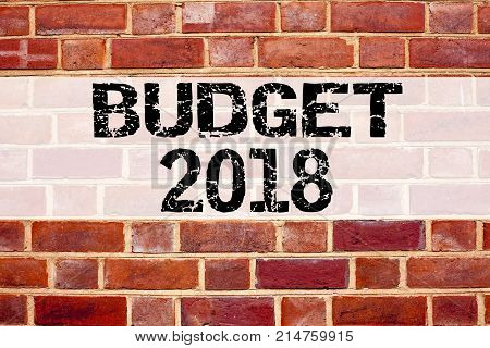 Conceptual Announcement Text Caption Inspiration Showing Budget 2018. Business Concept For New Year