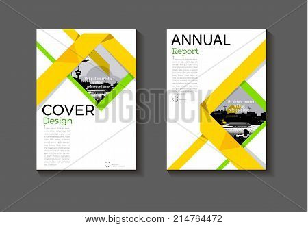 yewllow and green cover abstract design cover background modern book Brochure cover templateannual report magazine and flyer layout Vector a4
