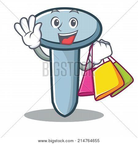 Shopping nail character cartoon style vector illustration