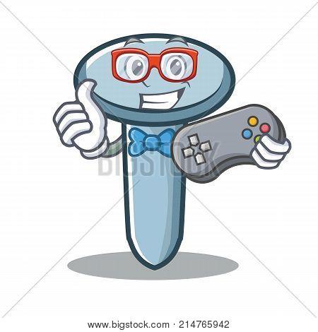 Gamer nail character cartoon style vector illustration