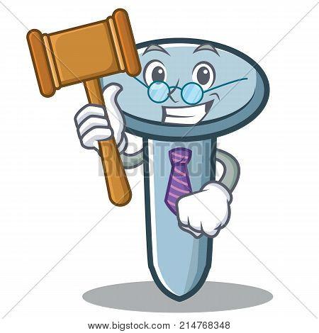 Judge nail character cartoon style vector illustration