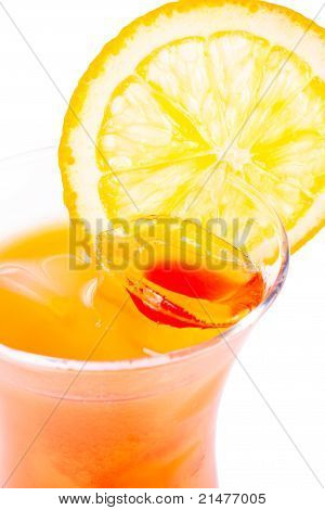 Tequila Sunris. cocktail.