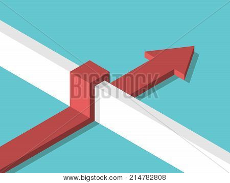 Isometric Arrow Above Wall