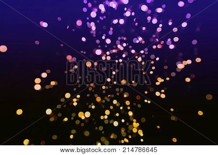 Magic Background With Color Festive background with natural bokeh and bright golden lights. Vintage Magic background with colorful bokeh. Spring Summer Christmas New Year disco party