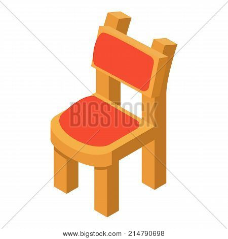 Chair icon. Isometric illustration of chair vector icon for web