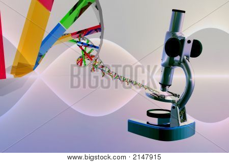 Dna Strings And Microscpe