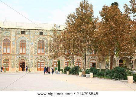 Tehran, Iran –november  6 ,2017  The Golestan Palace  In Tehran , Iran Is The Royal Qajar Complex At
