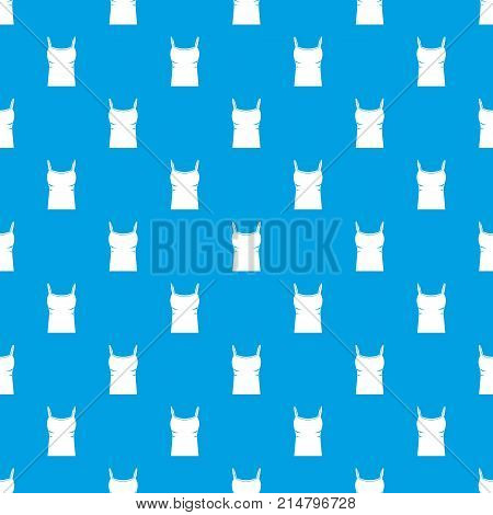 Blank women tank top pattern repeat seamless in blue color for any design. Vector geometric illustration