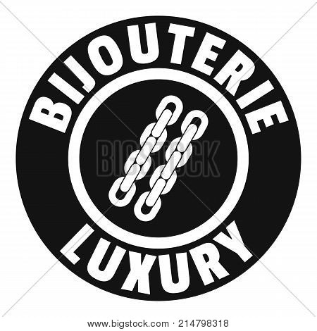 Bijouterie luxury logo. Simple illustration of bijouterie luxury vector logo for web