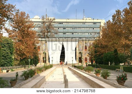 Tehran, Iran –november  6 ,2017  The Golestan Palace  In Tehran , Iran Is The Royal Qajar Complex At