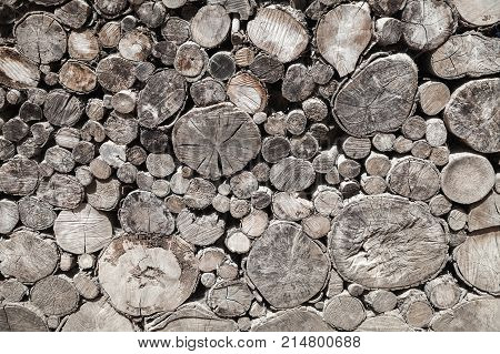 Pile Of Old Wood Chocks, Background Photo