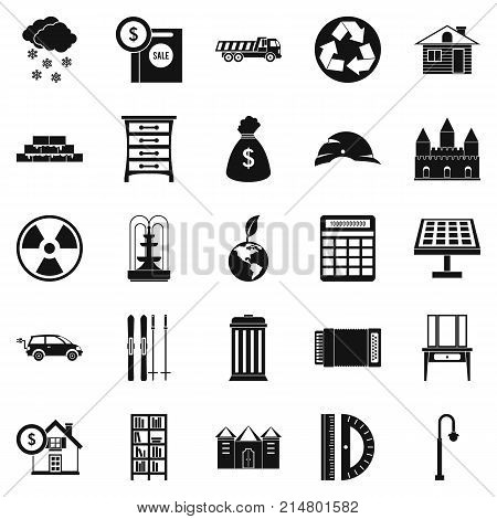 Higher society icons set. Simple set of 25 higher society vector icons for web isolated on white background