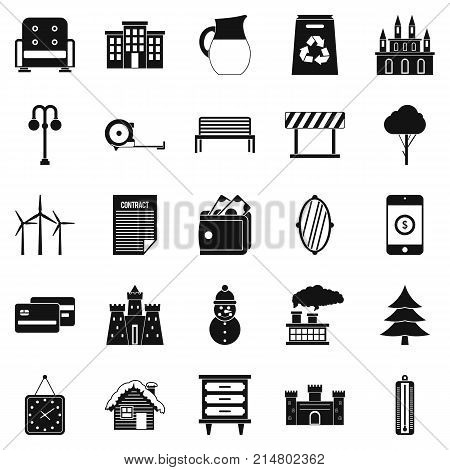 Top drawer icons set. Simple set of 25 top drawer vector icons for web isolated on white background