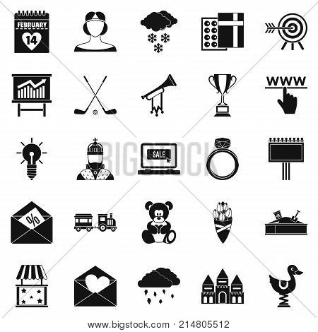 Standard icons set. Simple set of 25 standard vector icons for web isolated on white background