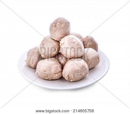 meatballs isolated on white meatballs on white