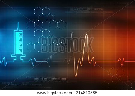 Medical abstract background, medical science background, Ecg background