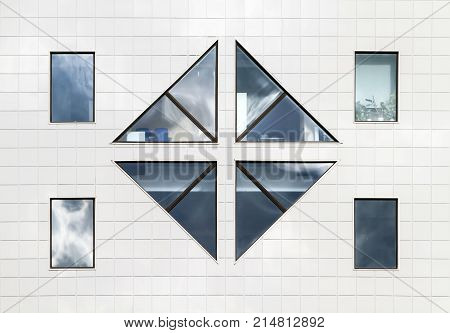 Architectural solution of windows of the modern building