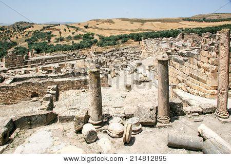 Ruins Dougga - the former capital of Numibia. Tunisia