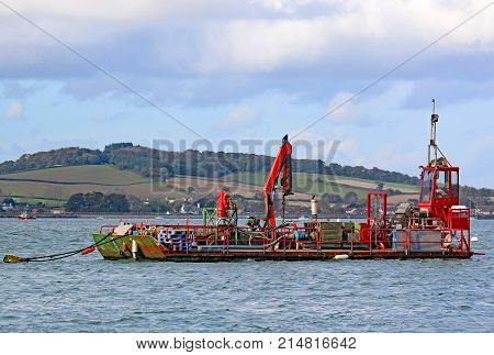 Dredging Barge on the River Exe, Devon
