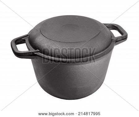 black iron utensils made of cast iron cooking