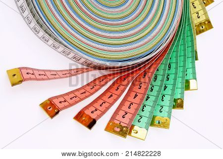 tool Measuring tape isolated on white background