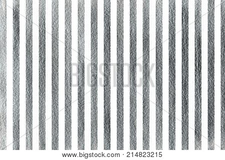 Silver striped background. Abstract pattern with silver stripes on white background. Silver shining texture. Silver paint.