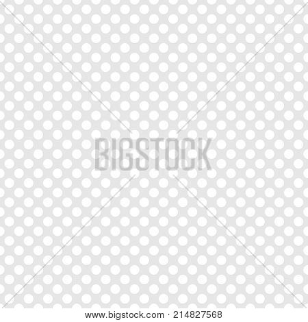 Tile white and grey vector pattern or background with polka dots