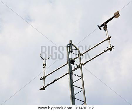Anemometer On Weather Station Antenna