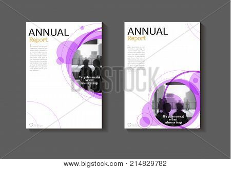 purple circle cover abstract design cover background modern book Brochure cover templateannual report magazine and flyer layout Vector a4