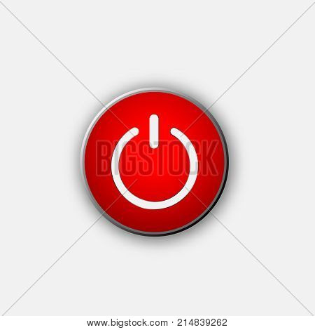 Shut down button vector web switch  off button