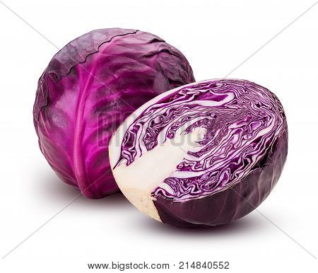 Red Cabbage One Cut In Half