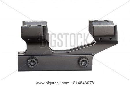Base of a scope mount designed for mounting on rails