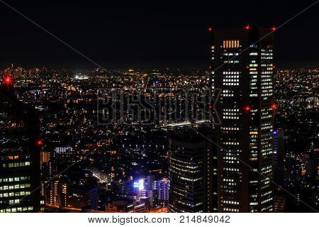 Tokyo night view from metropolitan government office