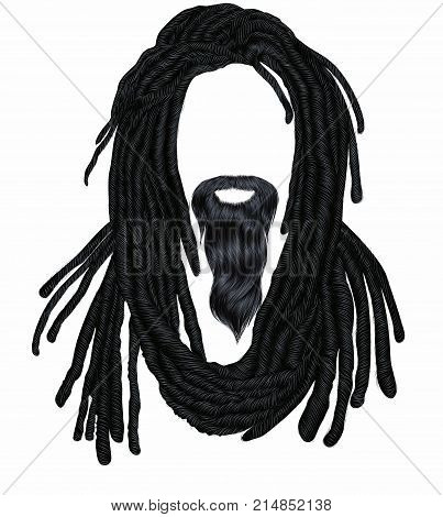 Indian sadhu hairstyle With beard.Hair dreadlocks. .funny avatar.